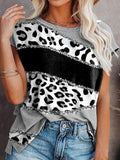 Casual Leopard Print Short-sleeved T-shirt