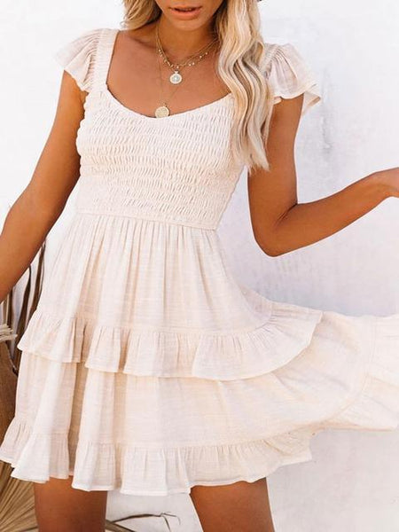 Fashion Pleated Mini Dress