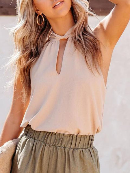Casual Halter Loose Top
