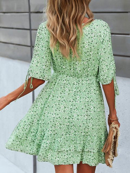 Chiffon Floral Mini Dress