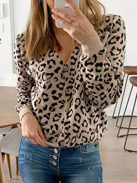Slim Knit V-neck Sweater Cardigan