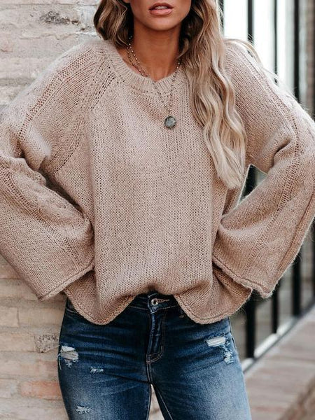 Solid Color Loose Knit Lightweight Sweater