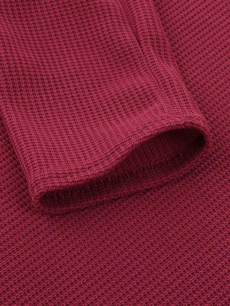 Solid Ribbed V-Neck Lightweight Sweaters