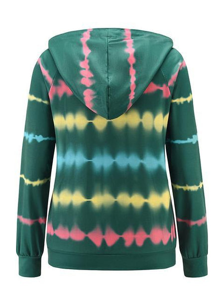 Tie-dye Printed Hooded Sweatshirt