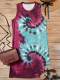 Tie Dye Print Mini Tank Dress