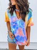 Tie Dye Printed Multicolor T-shirt