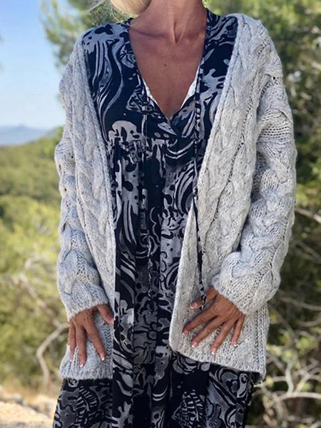 Twist Knitted Cardigan Sweater Coat