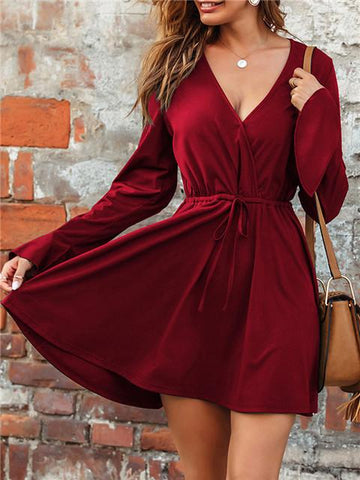 products/V-neckFlaredSleeveSolidColorDress_1.jpg