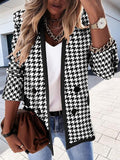Casual Long Sleeve Print Suits Coats