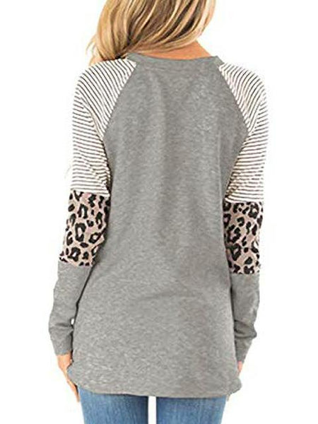 long-sleeve-striped-leopard-stitching-tops-ZSY1198