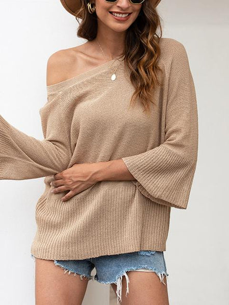 Bow Halter Solid Sweater