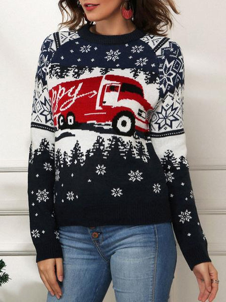 Casual Christmas Pullovers Winter Sweater