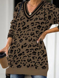 Casual Leopard Print Long Sleeve Sweater