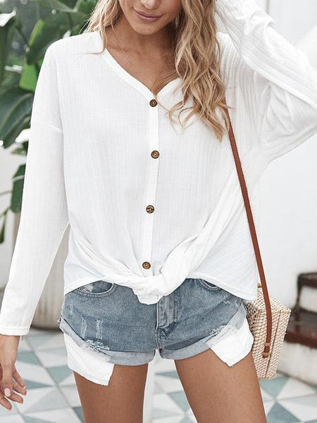 Casual Loose Button Cardigan Sweater