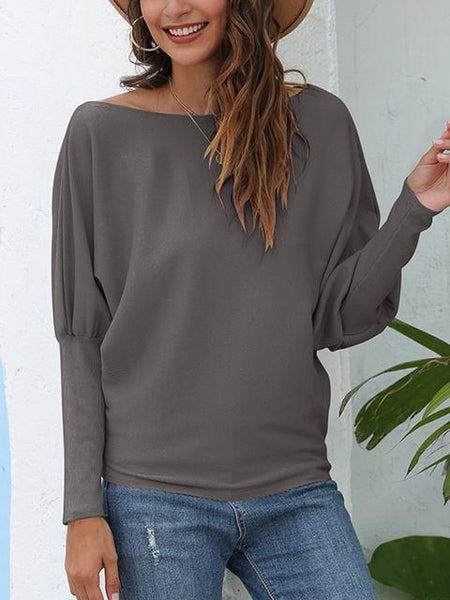 Casual Loose Long Sleeve Tops