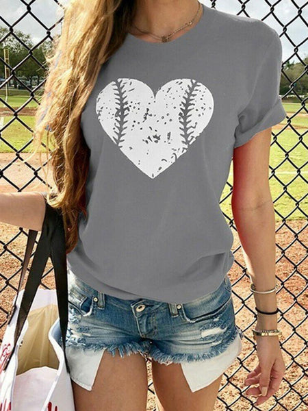 casual-print-love-baseball-tee