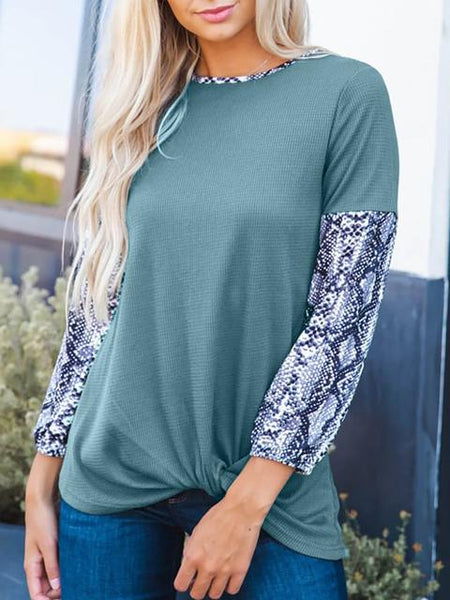 Casual Stitched Sleeves Sweatshirt