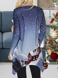 Christmas Eve Cartoon Print Tops