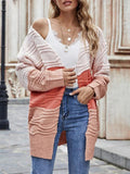 Color Printed Long Sleeve Cardigan