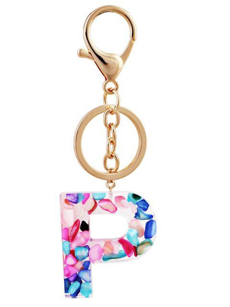 Colorful Letters Design Keychain