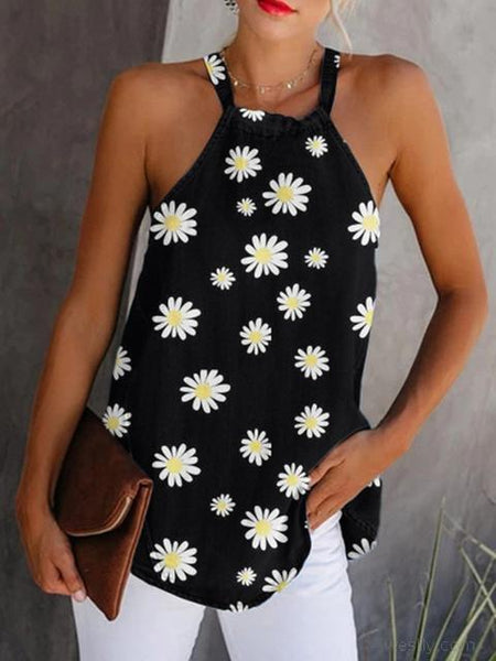 Printed Strap Sleeveless Camisole