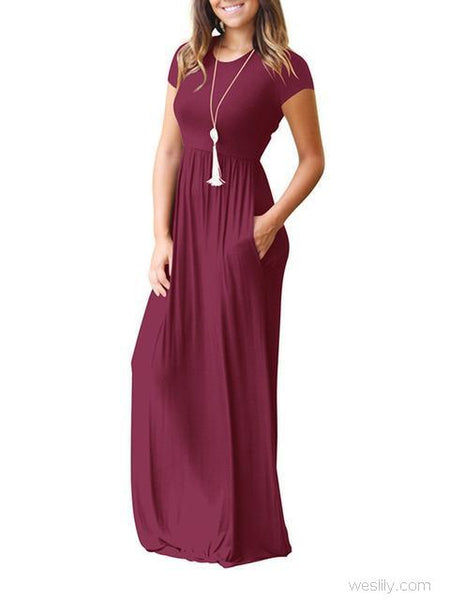 Casual Long Dresses with Pockets