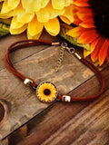 Retro Sunflower Bracelet