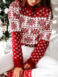 Christmas Print Thick Sweater