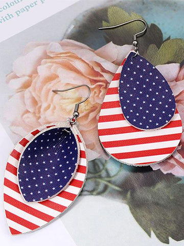 products/flag-print-leather-simple-earrings_2.jpg