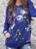 Floral Print Long Sleeve Tops