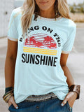 Graphic Letter Printed Casual T-Shirt