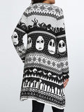Halloween Skull Knitted Cardigan
