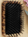 Leopard Massage Hair Brush Comb with Grip Handle