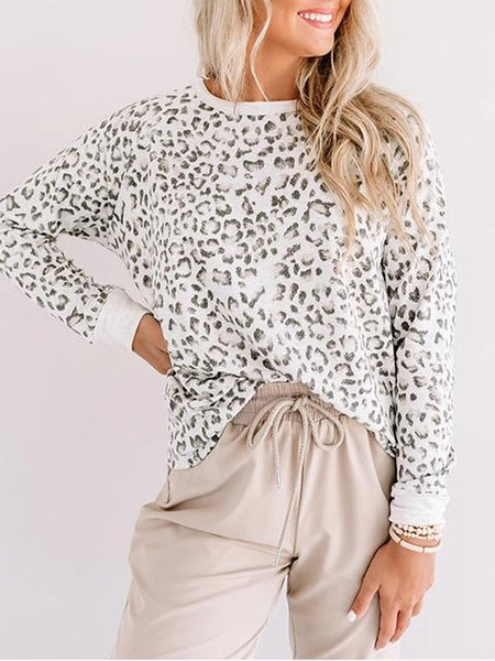 Leopard Print Long Sleeve Sweater