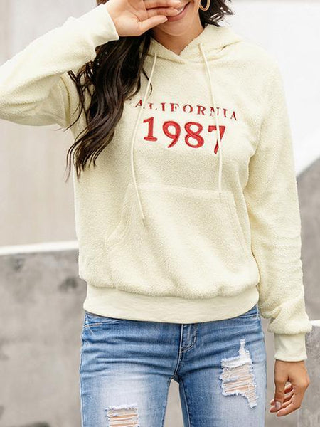 Letter Print Pullover Sweater