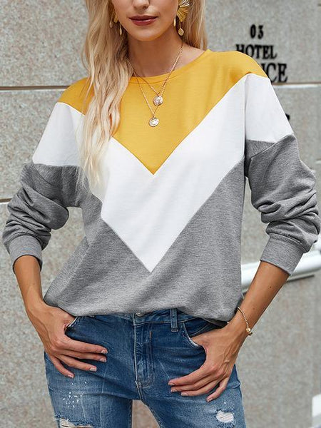 Long Sleeve Color Block Pullover