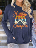 Long Sleeve Printed Casual Tops