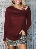 Long Sleeve Solid Color T-shirts