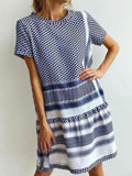 Polka Dot Print Round Neck Dress