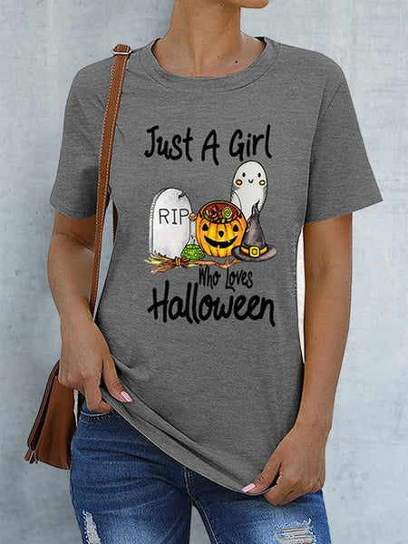 Pumpkin Ghost Print Halloween T-shirt
