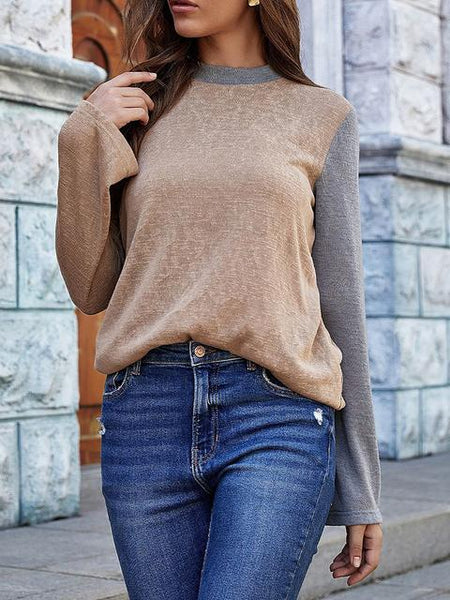 Round Neck Casual Pullover Sweaters