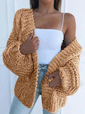 Solid Color Knitted Comfy Sweater Cardigan