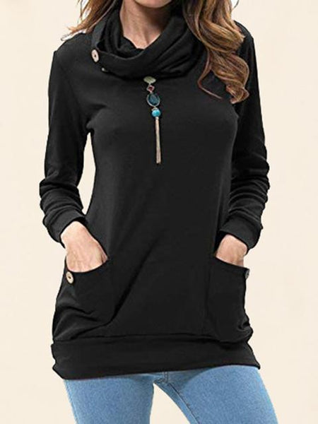 Solid Pocket Hooded Drawstring
