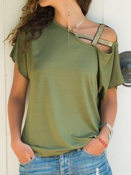Strapless Round Neck Tops