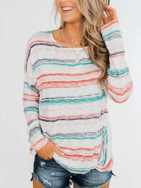 Striped Color Pullover Sweaters