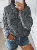 Thick V Neck Sweater