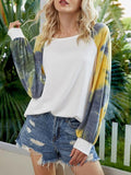 Tie-dye Long Sleeve Casual Tops