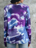 Tie-dye Pattern Long Sleeve Oversized Sweatshirt