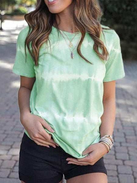 Tie-dye Stripes Casual T-shirt