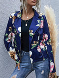 Vintage Flower Zipper Jacket Coat